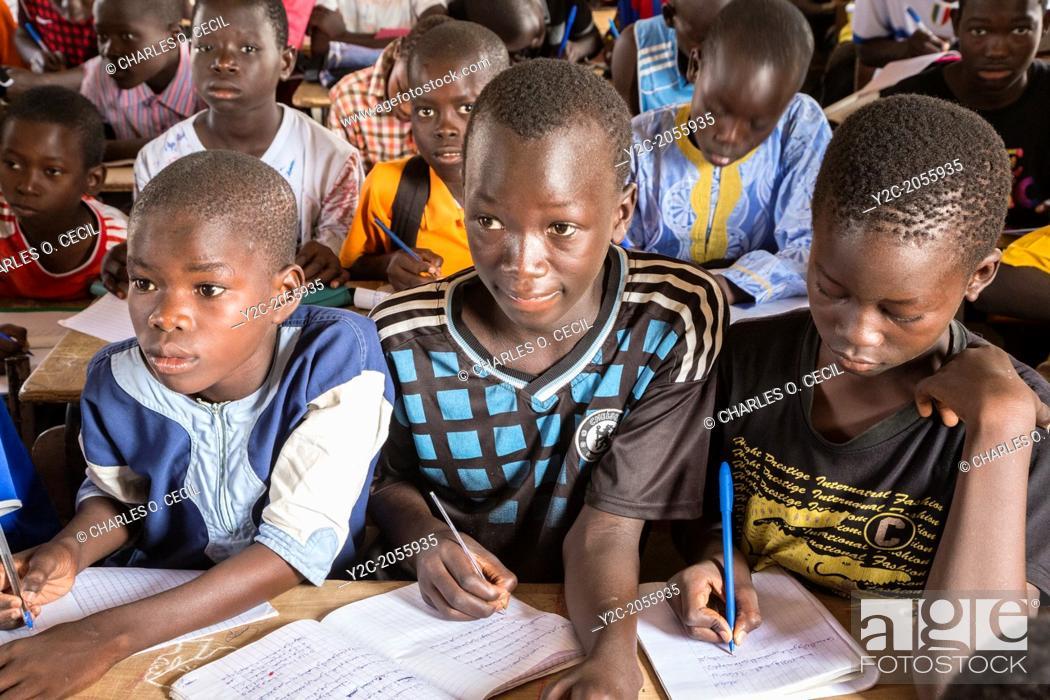 Senegal, Touba. Senegalese Students At Al-Azhar Madrasa, A
