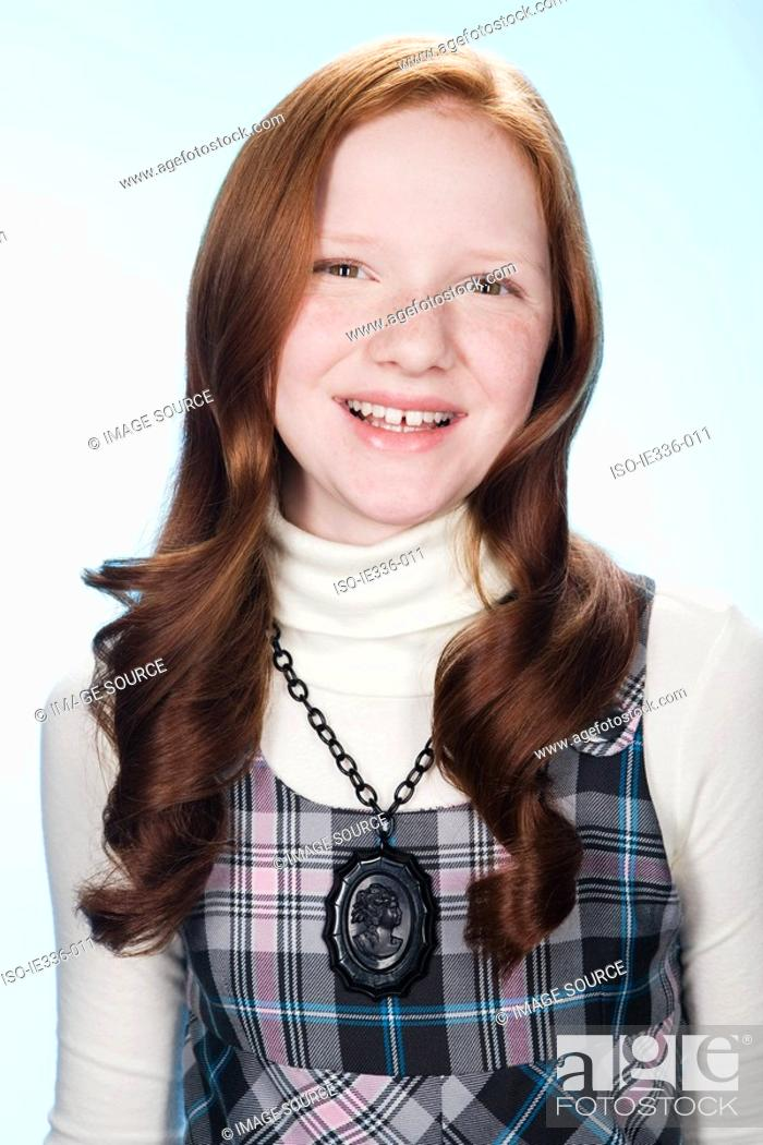 Stock Photo: Portrait of a girl.