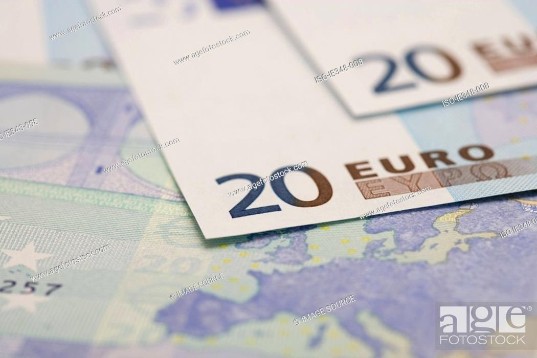 Stock Photo: Twenty euro notes.