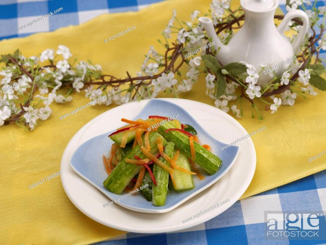 Stock Photo: dishes, Food styling, dish, dishes, dish, Chinese, cucumber pickles.