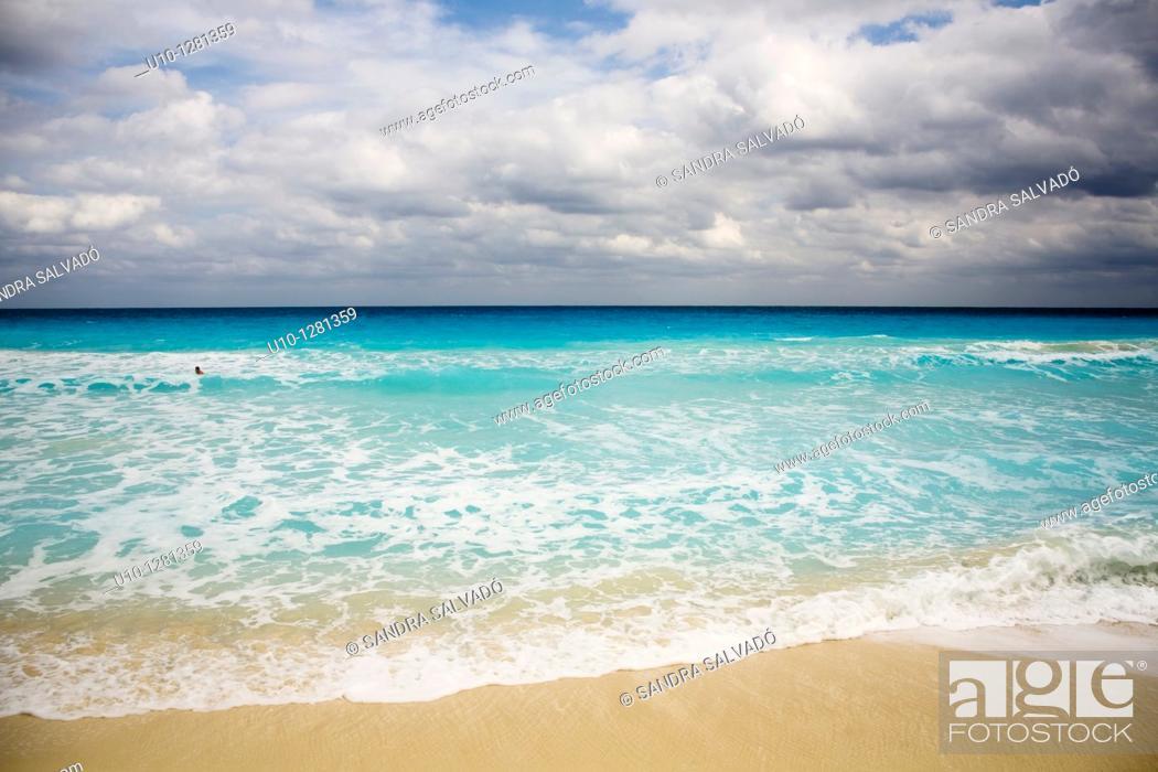 Cancun Beach Hotel Zone Caribbean Yucatan Peninsula Mexico