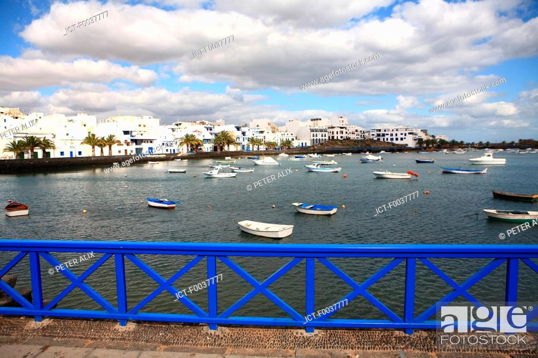 Stock Photo: Spain, Canary islands, Lanzarote, Arrecife.