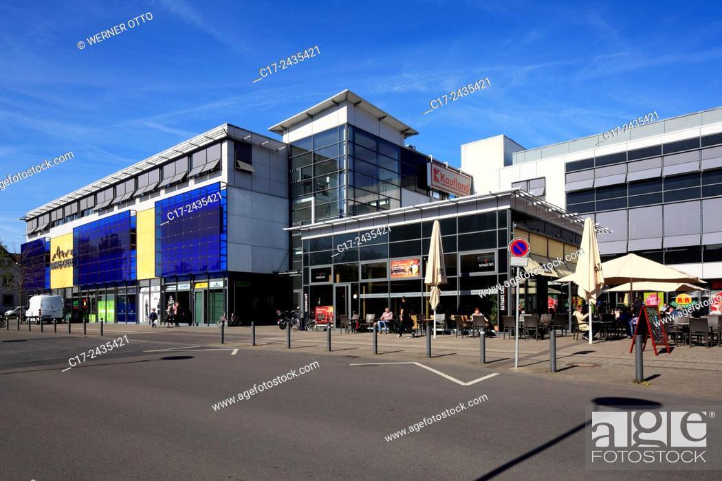 Stock Photo: Germany, Herten, Ruhr area, Westphalia, North Rhine-Westphalia, NRW, Shopping Centre Rathaus Galerien Herten, Otto-Weis Platz, Kurt-Schumacher Strasse.