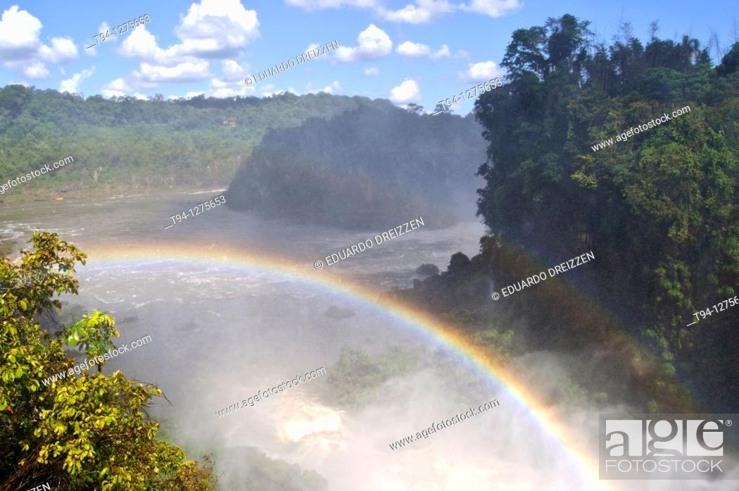 Stock Photo: Iguazu waterfalls, Iguazu National Park, Argentina.