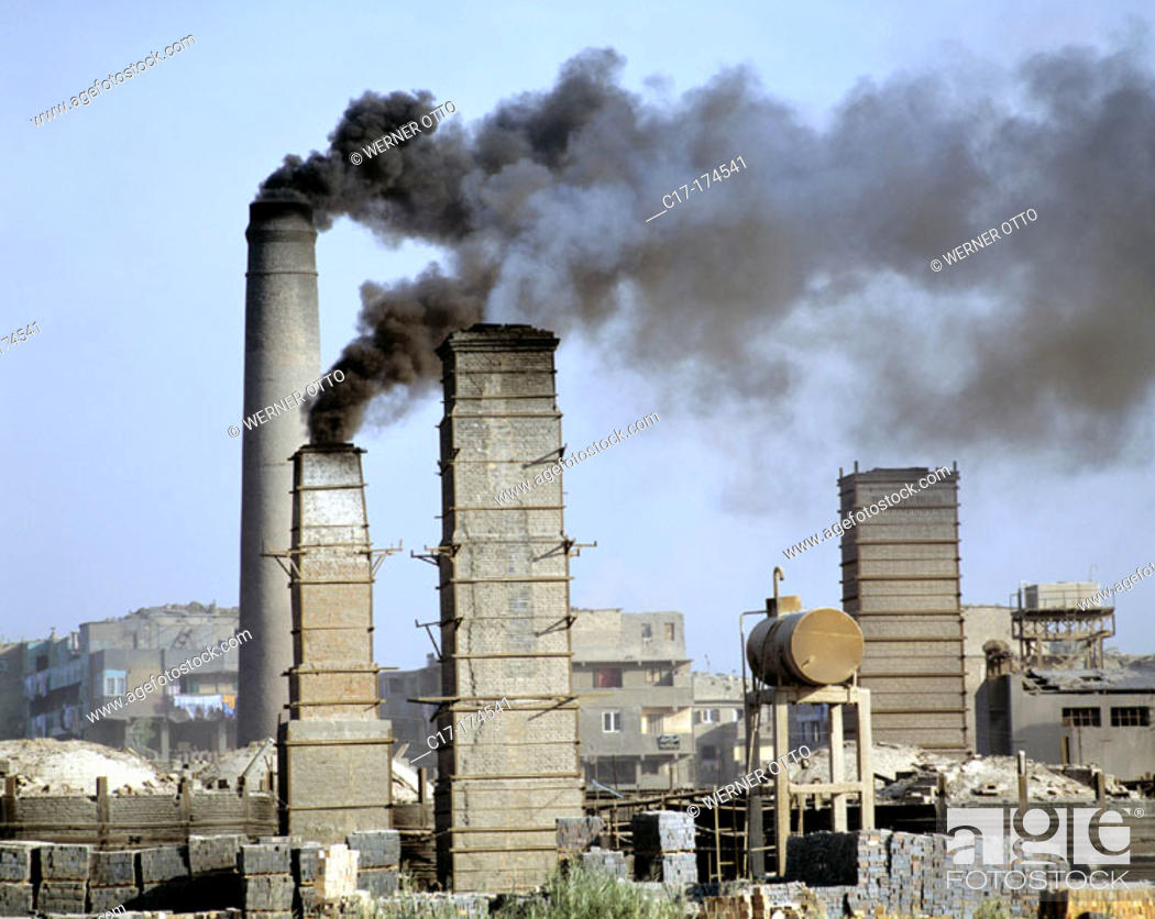 Stock Photo: Industry on Nile banks. Egypt.