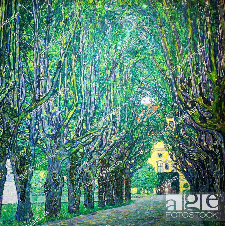 Stock Photo: Avenue in front of Kammer Castle, Gustav Klimt, Leopold Museum, Vienna, Austria, Europe.
