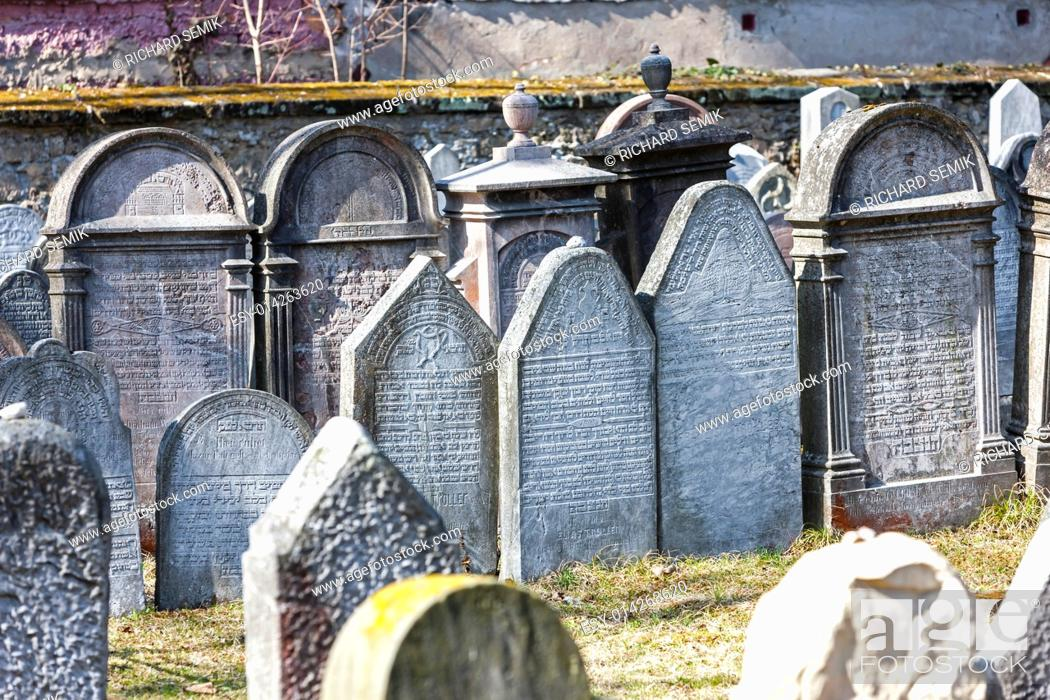 Stock Photo: Jewish cemetery, Hermanuv Mestec, Czech Republic.