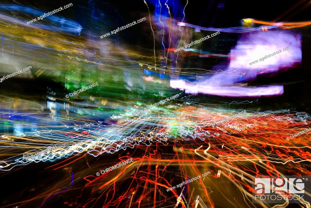 Imagen: Big City Lights Bangkok Abstract Art.