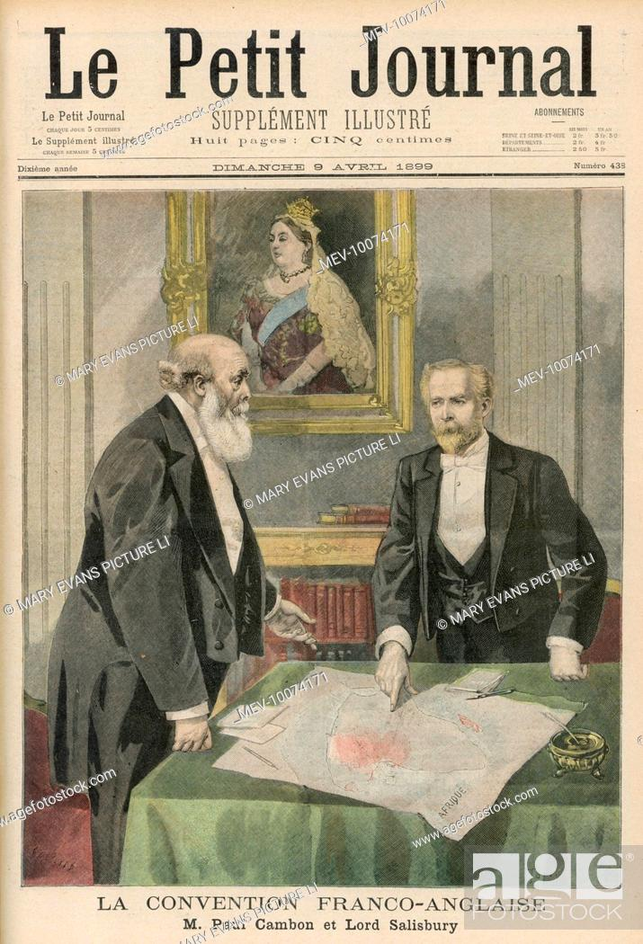 Paul Cambon Lord Salisbury Sign The Anglo French Agreement On