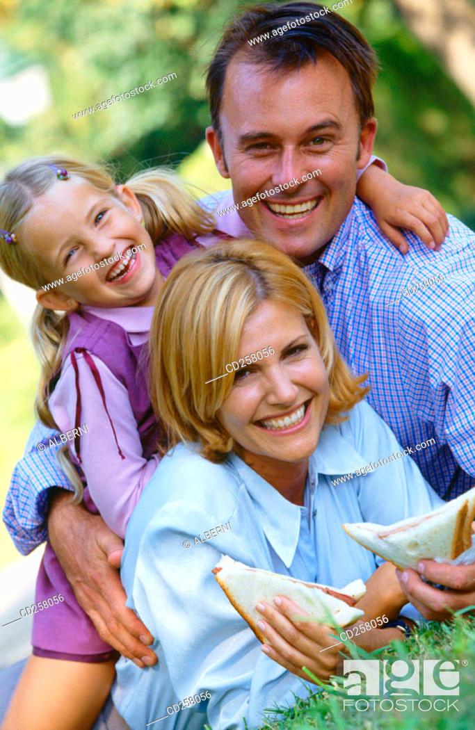Stock Photo: Family.