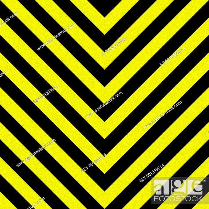Stock Photo: Seamless Hazard Stripes.