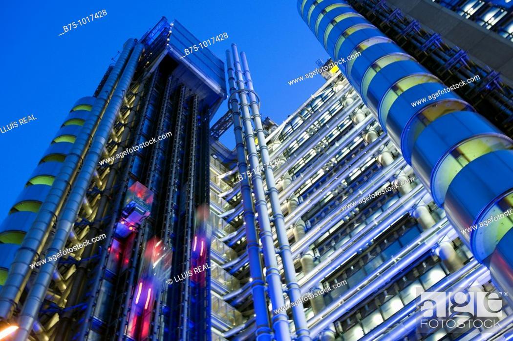 Stock Photo: LloydÂ's building, London, England.