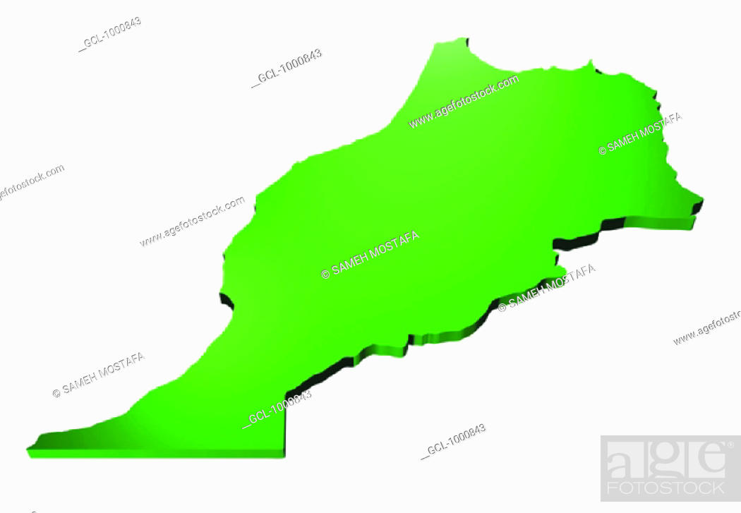 Stock Photo: map of Morocco.