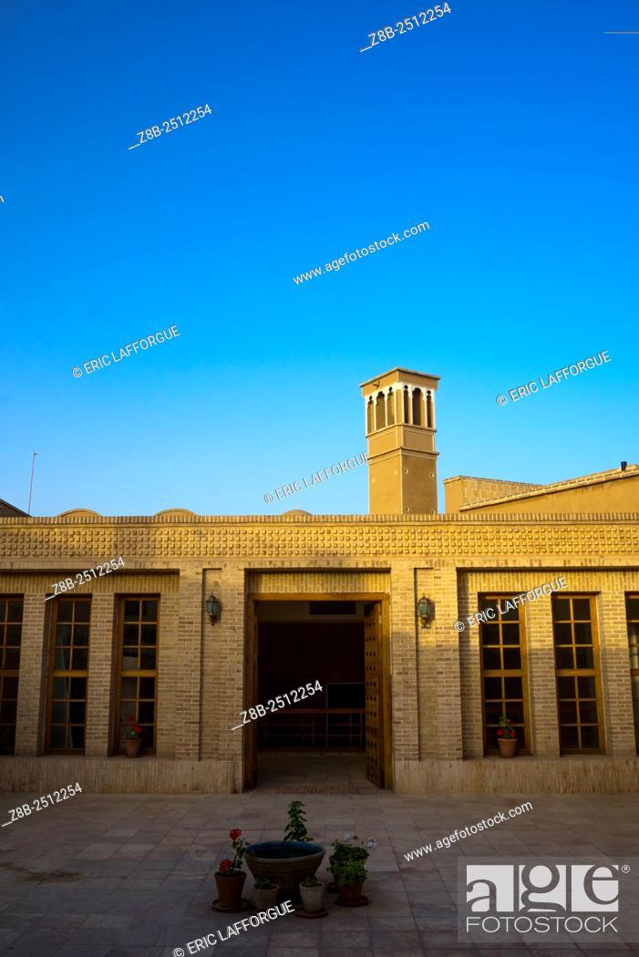 Stock Photo: Iran, Isfahan Province, Kashan, windtower of traditional house.
