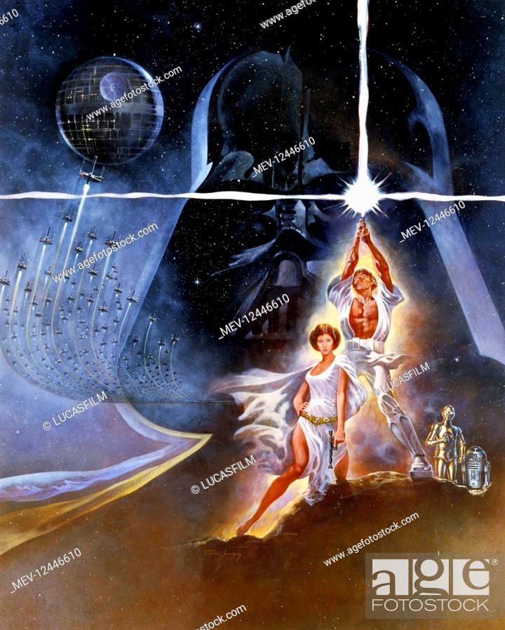 Movie Poster Film Star Wars Star Wars Episode Iv A New Hope Usa 1977 Neuer Titel Auch Stock Photo Picture And Rights Managed Image Pic Mev 12446610 Agefotostock