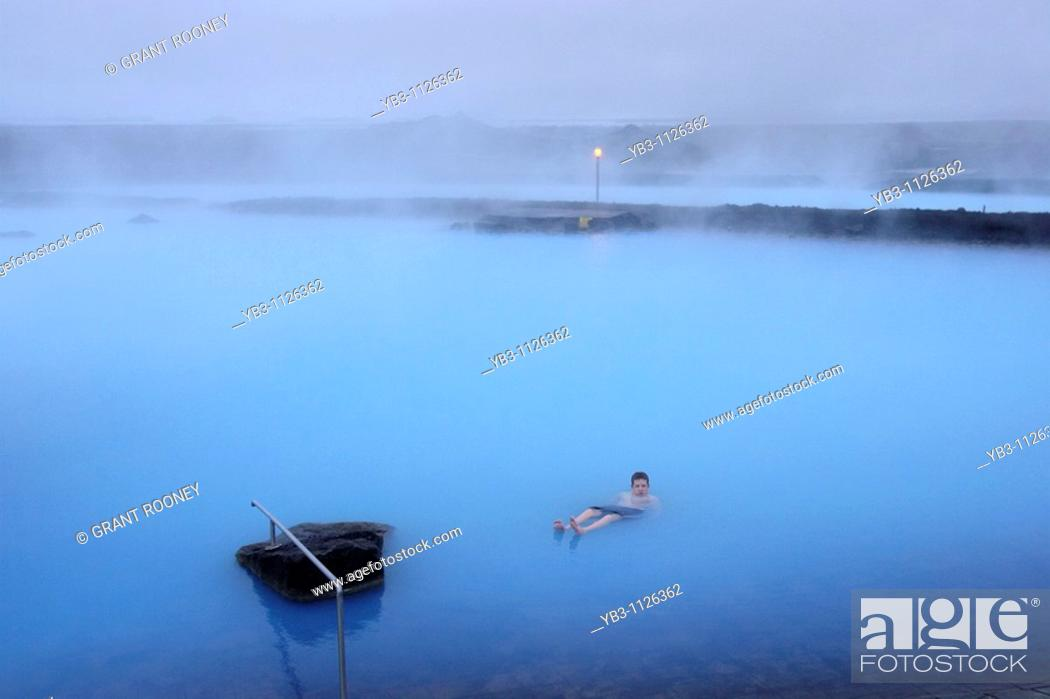Stock Photo: Myvatn Nature Baths, Myvatn, Iceland.