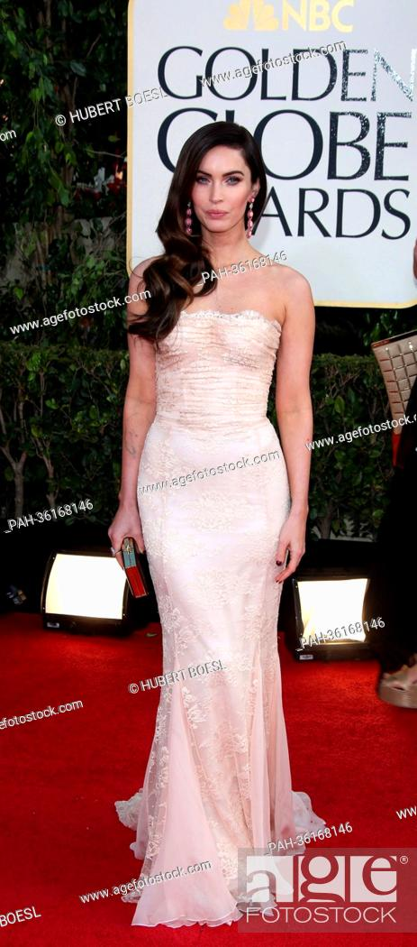 c41002d7c Stock Photo - Actress Megan Fox arrives at the 70th Annual Golden Globe  Awards presented by the Hollywood Foreign Press Association