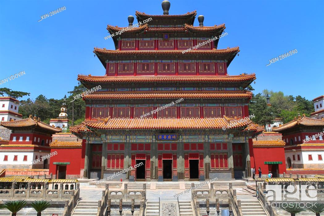 Stock Photo: Punin temple (1755), Chengde, China.