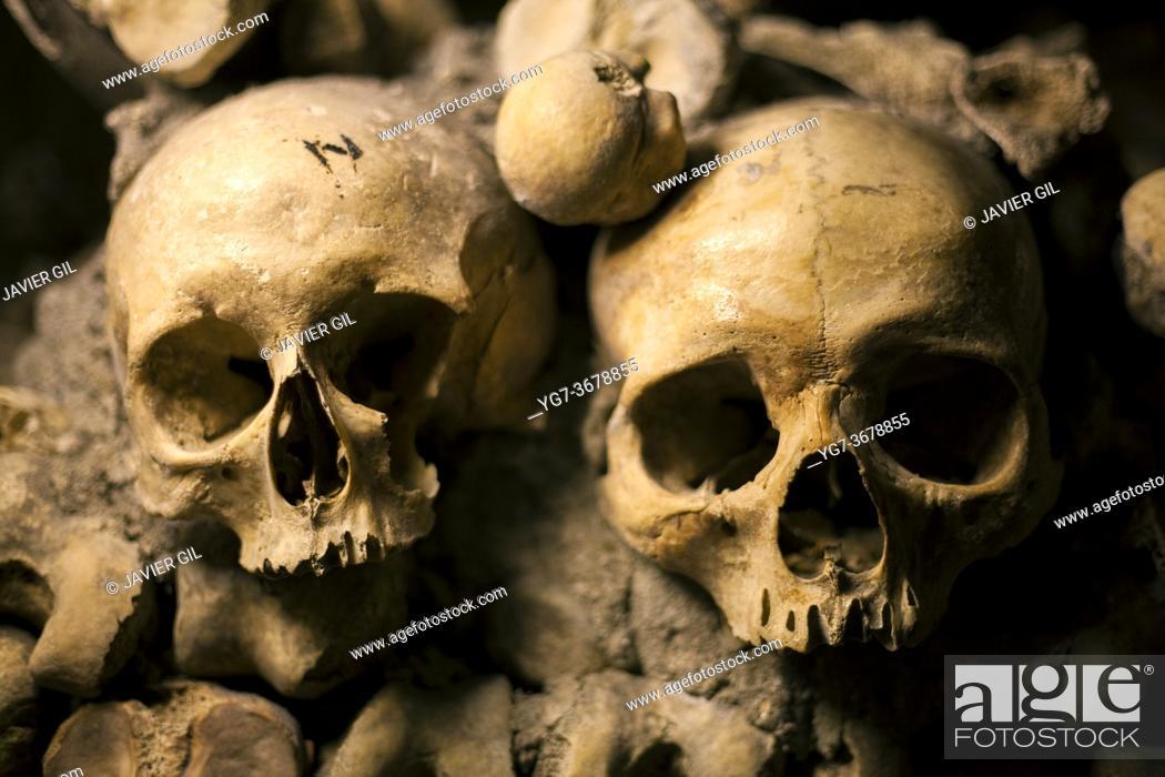 Stock Photo: Catacombs of Paris, Ile de france, France.