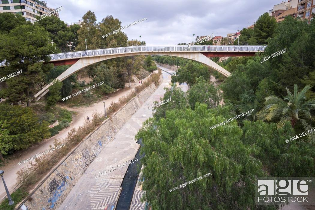 Stock Photo: Elche Alicante Spain Vinalopo river bed.