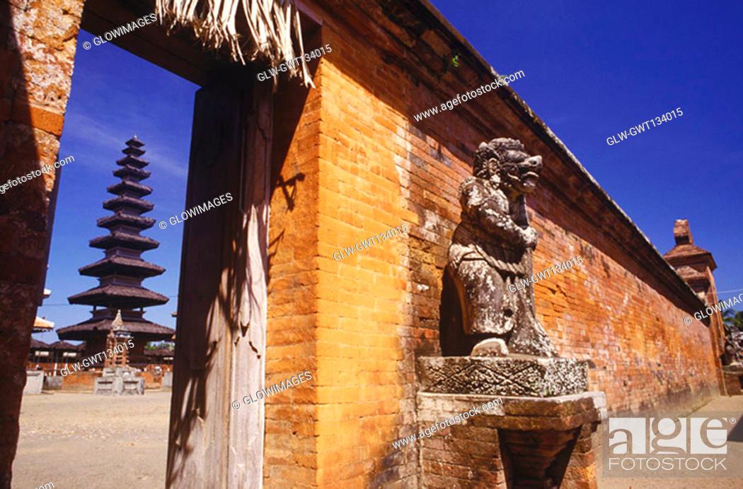 Stock Photo: Statue outside a temple, Bali, Indonesia.