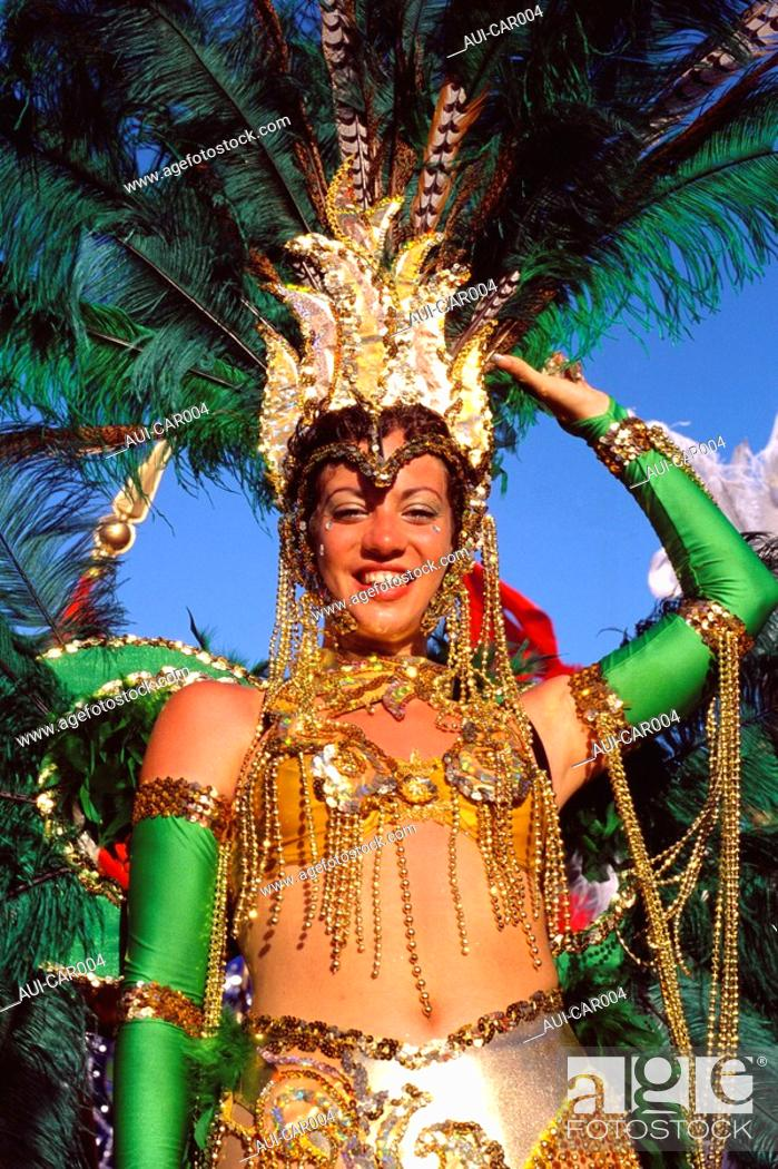 Stock Photo: Caribbean - Saint Martin - Carnival in Philipsburg.