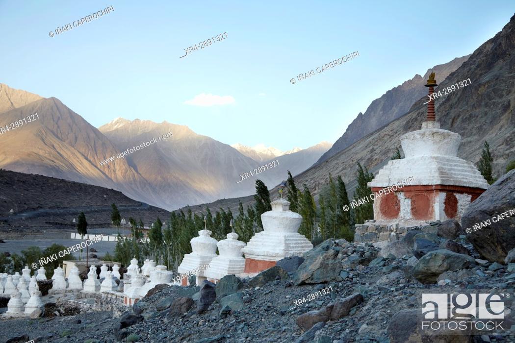 Stock Photo: Diskit Gompa, Diskit, Valle de Nubra, Ladakh, India.