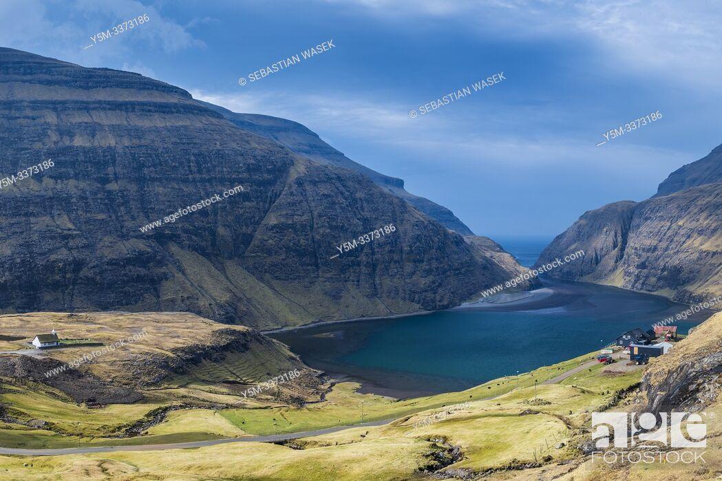 Stock Photo: Saksun, Streymoy, Faroe Islands, Denmark.