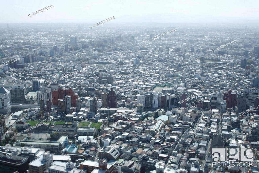 Stock Photo: Japan, Tokyo Prefecture, Shinjuku Ward, Cityscape, aerial view.