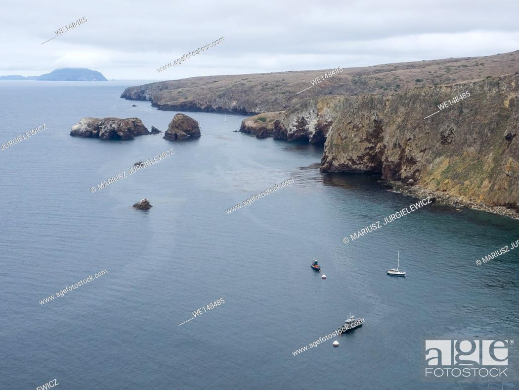 Stock Photo: Santa Cruz Island is the largest of the eight islands in the Channel Islands located off the coast of California.