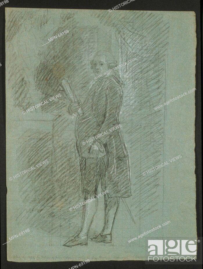 Imagen: Study for John Adams. Artist: John Singleton Copley (American, Boston, Massachusetts 1738-1815 London); Date: 1783; Medium: Black chalk, white-chalk heightening.