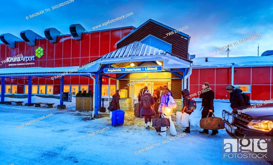 Stock Photo: Kiruna Airport, Jukkasjarvi, Lapland, Sweden.