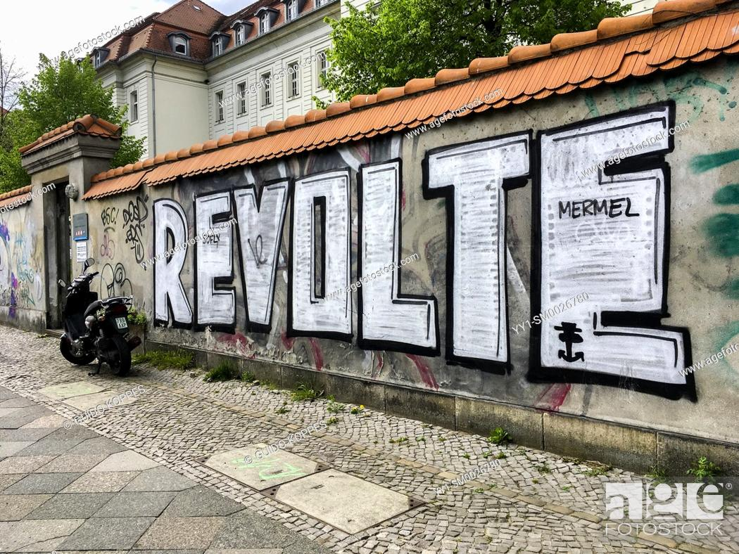 Stock Photo: Berlin, Germany. One of the many, bautirfull graffities in town. Germany's captiol has a huge community, creating regularly new streetart.