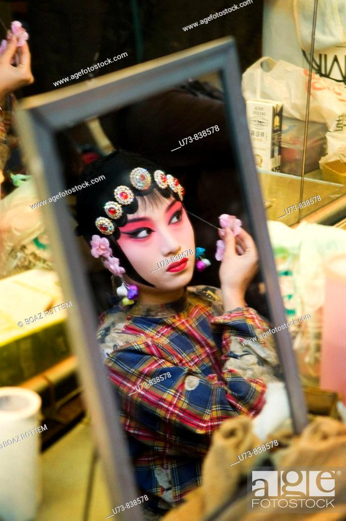 Stock Photo: Chinese Kunqu opera performers get ready for the show.