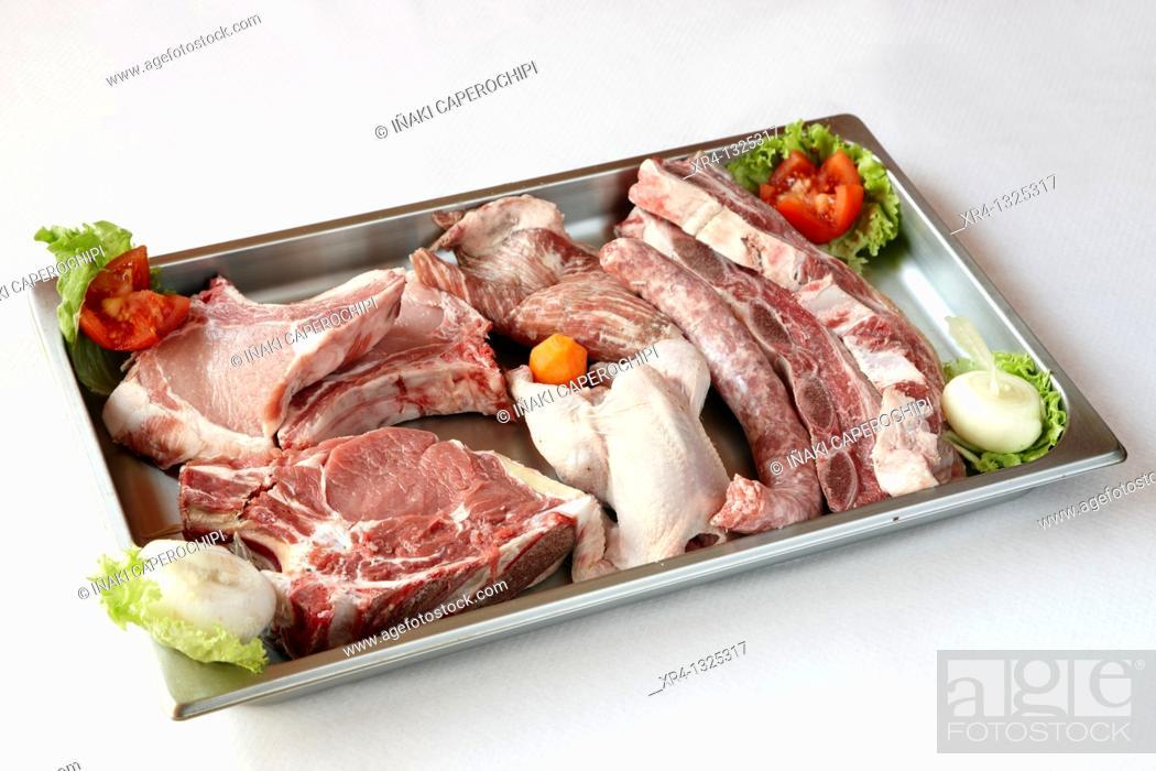 Stock Photo: Carne a la brasa, Meson Oroso, Oroso, La Coruña, Galicia, España Spain.