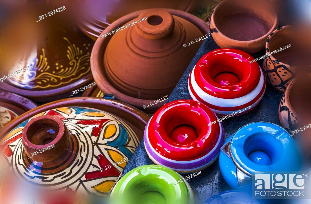 Stock Photo: Morocco, Handicraft: ceramics.