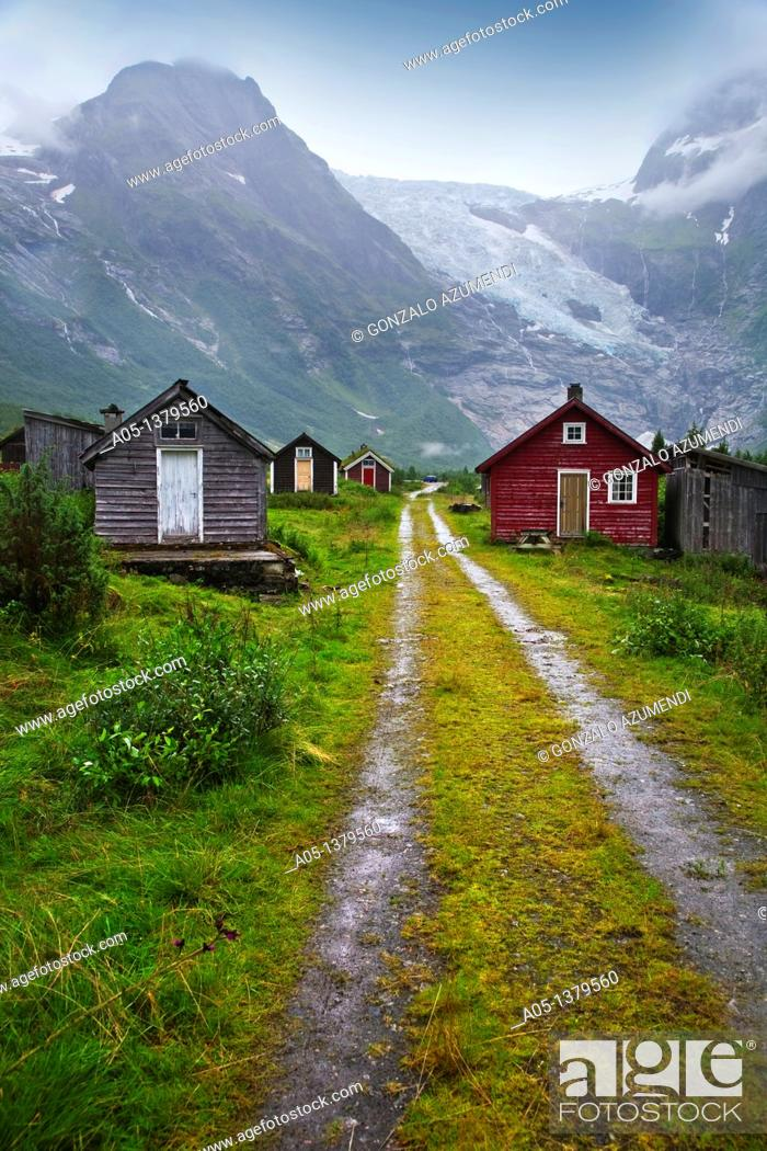 Stock Photo: Boyabreen Glacier Sognefjord Sogn & Fjordane Norway.
