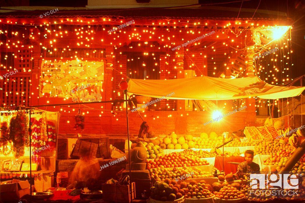 Stock Photo: Market, Tihar, Katmandu, Nepal.