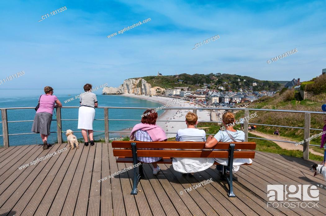 Stock Photo: France, Normandy, Coast, Etretat, France, Europe.