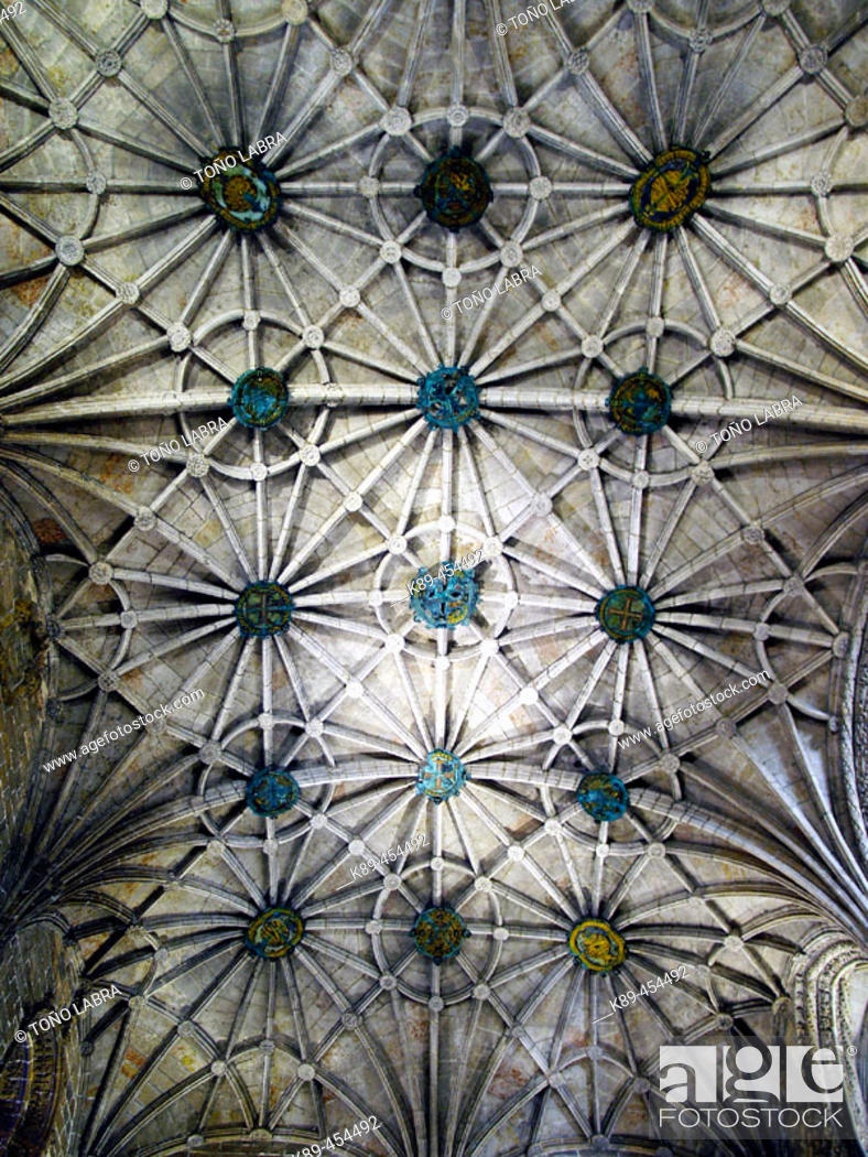 Stock Photo: Vault ribs, Monastery of the Hieronymites. Lisbon, Portugal.