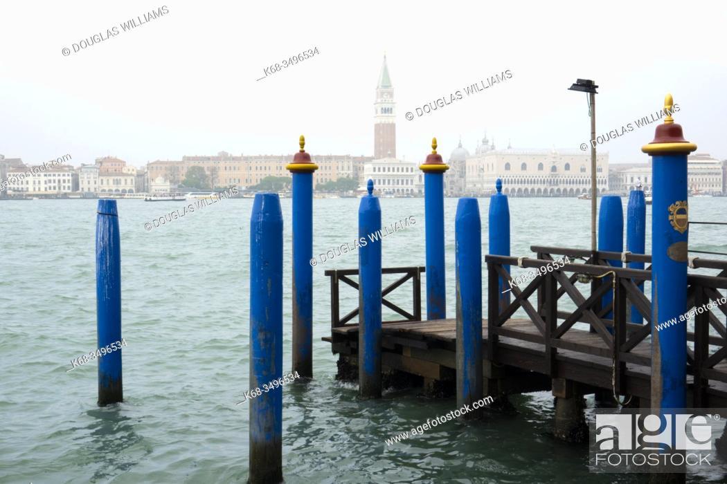 Stock Photo: dock in Giudecca, in Venice, Italy.