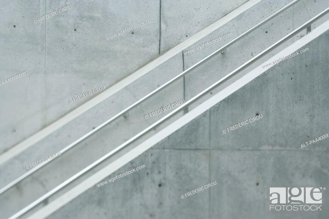 Stock Photo: Architectural detail, side view of staircase.