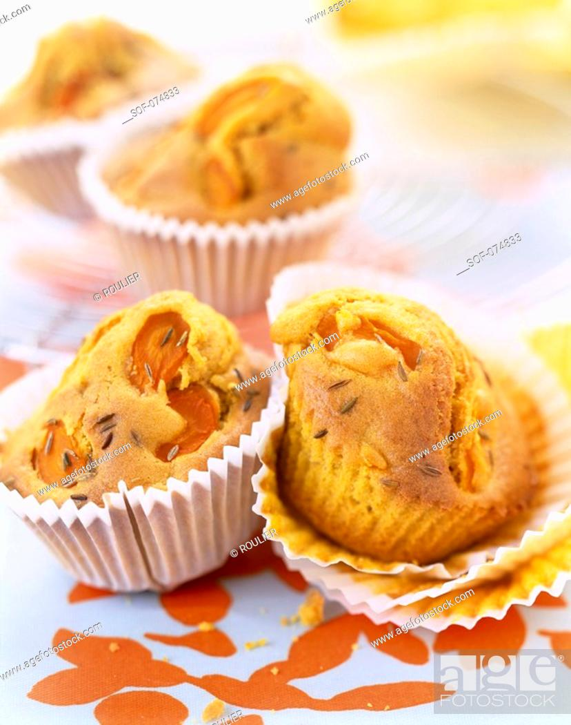 Stock Photo: Carrot and cumin muffins.