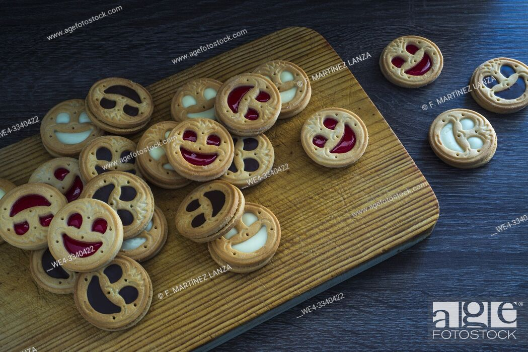 Stock Photo: Cookies with face shape.