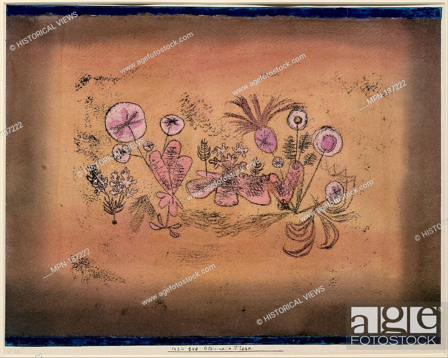 Stock Photo: Medicinal Flora. Artist: Paul Klee (German (born Switzerland), Münchenbuchsee 1879-1940 Muralto-Locarno); Date: 1924; Medium: Watercolor and transferred.