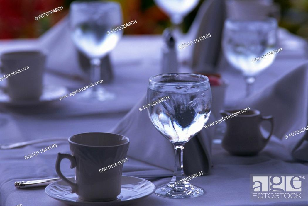Stock Photo: Table Setting.