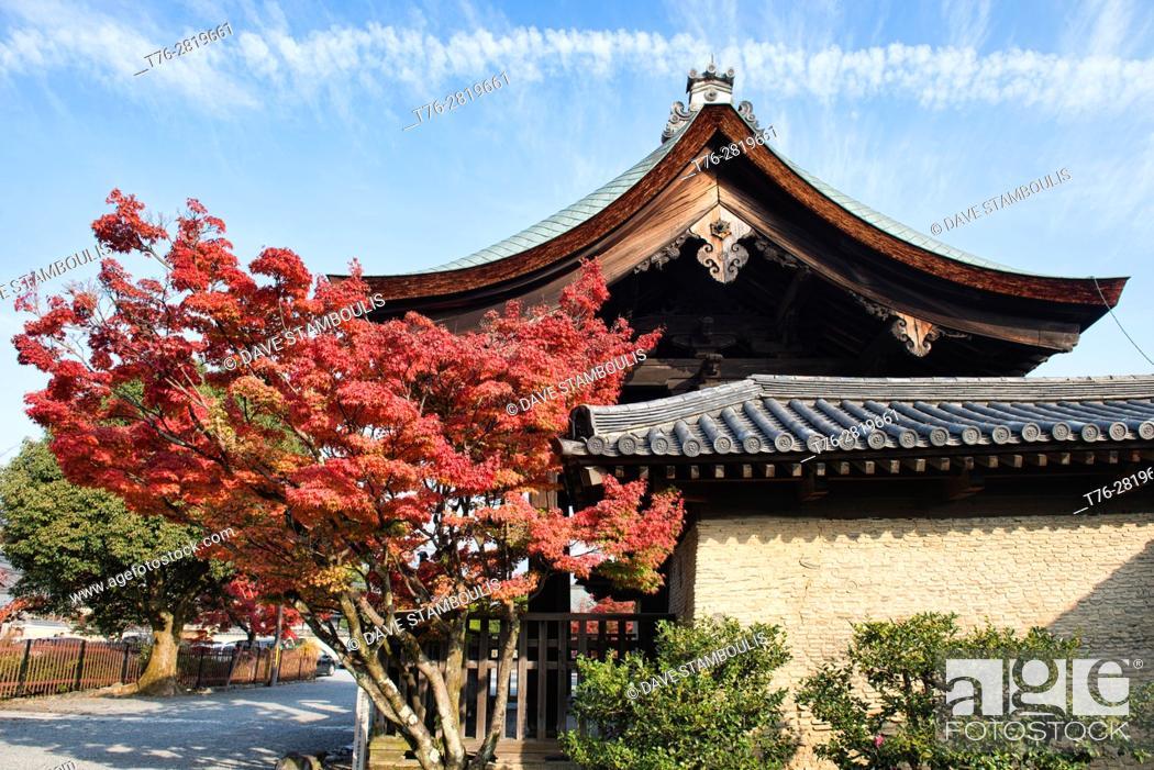 Stock Photo: Autumn leaves at Tenryu-ji Temple, Kyoto, Japan.