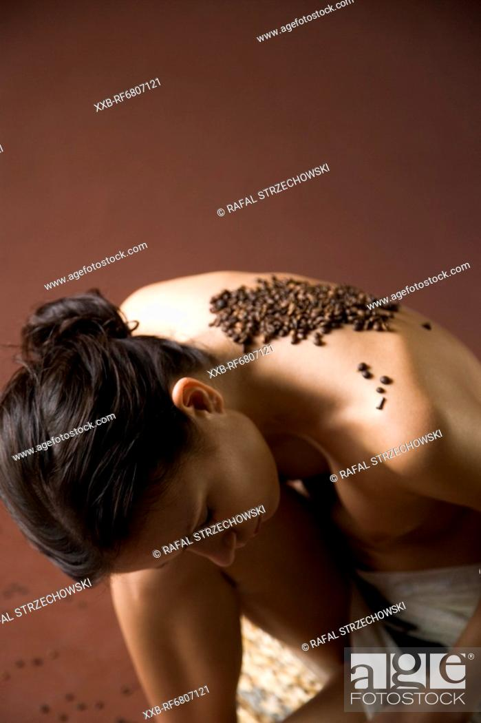 Stock Photo: Coffee treatment on back.