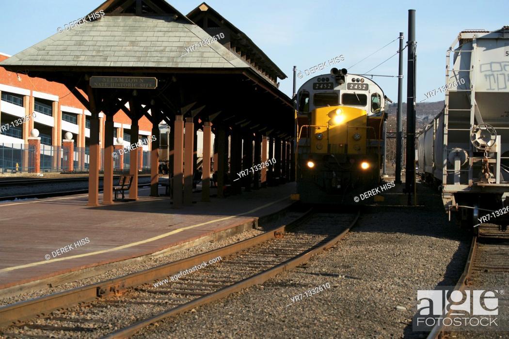 Stock Photo: Rail line.