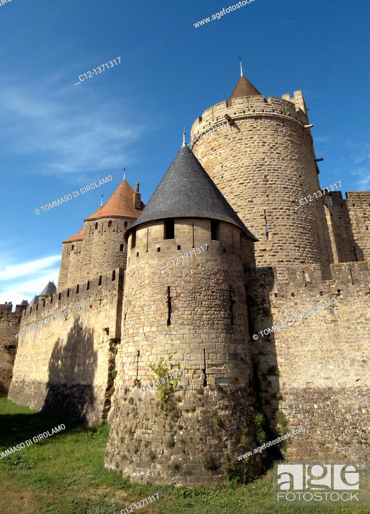 Stock Photo: France, Carcassonne.